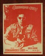 COMMANDER CODY Austin TEXAS (1989) ORIG Concert Flyer/Poster lost planet airmen