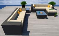 9PC Modern Rattan Patio Set Outdoor Sectional Sofa Furniture Wicker Humboldt New