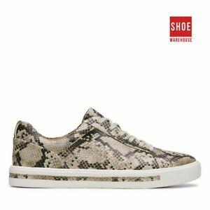 Clarks UN MAUI LACE Neutrals Womens Sneaker Casual Leather Sneakers