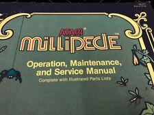 Atari Millipede Arcade Machine Operation Maintenance Service Manual Free Ship