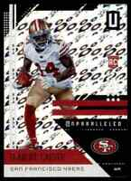 2018 PANINI UNPARALLELED FLIGHT DEANDRE CARTER SAN FRANCISCO 49ERS #175