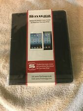 New! Snugg Leather Flip Stand Case For Apple Ipad Ipad 3 & 4 Black