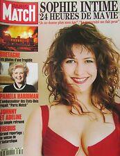 PARIS MATCH de 1994 SOPHIE MARCEAU BRETAGNE INCENDIE SAINT MALO PAMELA HARRIMAN