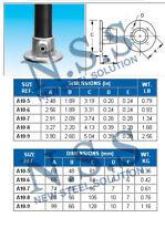 40NB PIPE FITTING-24YY FLANGE GALVANISED STEEL CLAMP