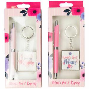 Pen and keyring set stationary I Love Mummy gift