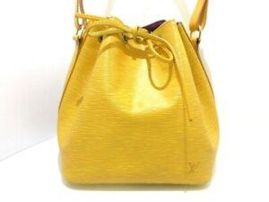 Auth LOUIS VUITTON Petit Noe M44109 Jaune Epi AR1915 Shoulder Bag