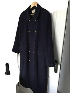 Eastex Wool Navy Blue Long Overcoat 14 Vintage