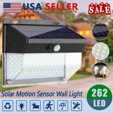 262 Led Pir Motion Sensor Solar Power Garden Light Outdoor Lamp Waterproof Usa
