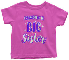 Promoted To Big Sister Toddler T-Shirt Expecting Baby Gift Reveal