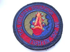 RAF/USAF squadron cloth patch the fireball squadron  fighting 522nd