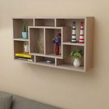 Shelf Bookshelf Storage Bookcase Display Wall Floating Wooden White/Oak Colour