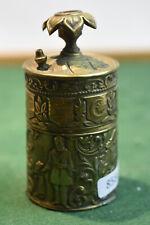 Ancien pyrogène en métal doré ciselé