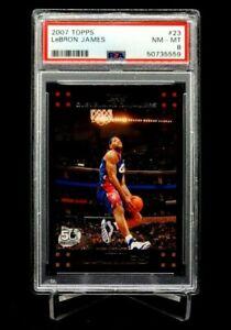 2007 Topps Lebron James #23 PSA 8 Cavs Heat Lakers