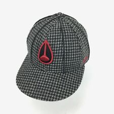 Nixon Houndstooth Plaid 6 Panel Hat Cap Fitted 7 1/4
