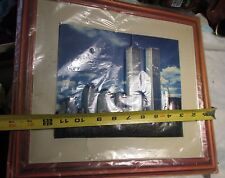 Vintage Plastic World Trade Center Picture 3D Wall Plaque Twin Towers unframed