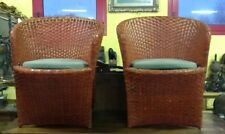 Coppia di sedie in vimini con cuscino - Antikidea