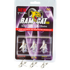 Pack of 3 for sale online Silver Ramcat 125g Crossbow Broadheads