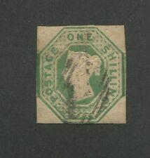 1847 Great Britain United Kingdom Queen Victoria 1 Shilling Postage Stamp #5