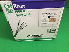 New 1000 ft 24 4 Gauge Category 5e Riser Internet Wire with jacket color Gray