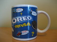 Oreo Cookie Trivia Questions Answers Coffee Mug Cup Blue White