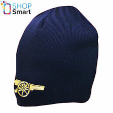 ARSENAL GUNNERS BEANIE KNITTED HAT CAP WARM WINTER SOCCER FOOTBALL CLUB NAVY NEW