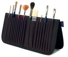 Black Makeup Brush Holder Artist brush easel case bag pouch Cosmetics Organizer
