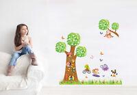 Wandtattoo Wandsticker Wandbild Süß Tiere Kinderzimmer Lüstig  Wandaufkleber Top