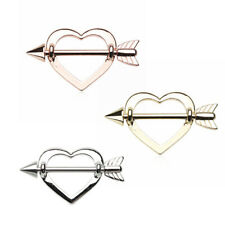Silver & Golden & Rose Gold Cupid's Heart Nipple Shield Ring