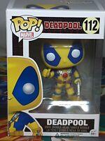 Marvel Deadpool Yellow #112 Pop Vinyl Bobble-Head Figure Funko Aus Seller
