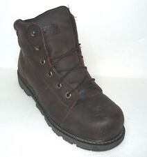 Work Sport Brown Leather Short Steel Toe Work Safety Boots Size 10.5M