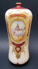 Lovely Antique Hand Painted Royal Bonn Anton Mehlem Castle Vase 1888-1920