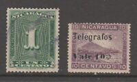 Nicaragua Revenue fiscal Cinderella stamp 8-11-c45 telegraph