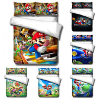 3D Super Mario Bros Game Anime Bedding Set Duvet Cover Pillow Shams Quilt Cover