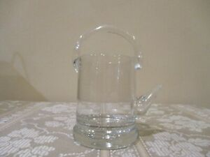 Basket Style Crystal Glass Creamer with Handle (1pc)