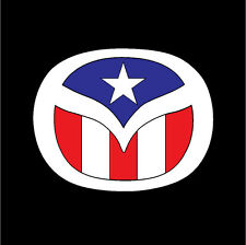 PUERTO RICO CAR DECAL STICKER MAZDA  with PUERTO RICAN FLAG #239