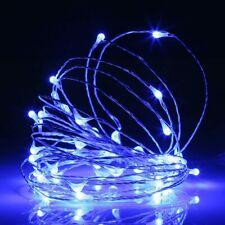 Solar Powered Twinkle Copper Wire Fairy String Rope Lights Outdoor Garden Patio