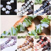 Wholesale 10pcs 20mm Flower Lampwork Glass Loose Spacer Beads Jewelry Findings