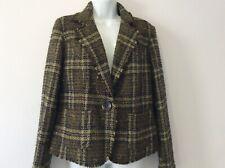 Peruna Italian fabric green, pink tweed look jacket size 14