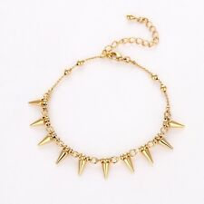 """New Fashion Anklets 18K Yellow Gold Filled Womens Chain 7"""" + 2.2"""" Link Jewelry"""