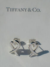 Tiffany & Co Sterling Silver Paloma Picasso LARGE Loving Heart Earrings