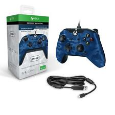 Xbox One Wired Controller & Windows PDP Blue Camo NEW 1 S X Officially Licenced