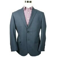 Jos A Bank Reserve Mens Blazer Sport Coat Size 44S Tailored Fit Houndstooth Blue