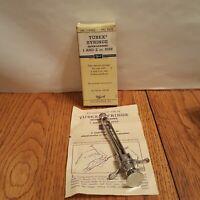 Vintage TUBEX Wyeth Stainless Steel Metal Syringe medical Orginal Box Instructio