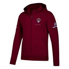 Colorado Rapids MLS Adidas Men's Sideline Burgundy Authentic Full Zip Jacket