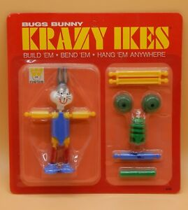 1960's vintage Whitman Crazy Ikes BUGS BUNNY action figure sealed MOC toy RARE !