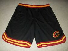 Rare Ultra Game Cleveland Cavaliers sewn Logo Black XL NBA Men Basketball Shorts