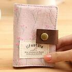 FD2744 Pastoral Floral Style Canvas ID Credit Card Case Pocket Bag Wallet Holder