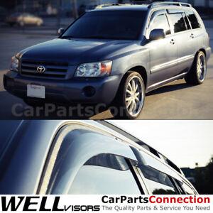 WellVisors Window Visors 2001-2007 For Toyota Highlander Side Deflectors