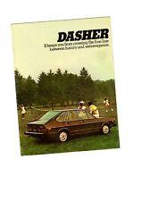 1976 Volkswagen VW Dasher Catálogo / Catalog con / Tabla de Colores: Ventana