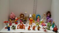 Huge Disney Figure Toy (Lot of 30) Barbie Snoopy frozen care bear & More
